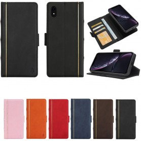 Retro Book Wallet 2i1 Apple iPhone XR mobilplånbok mobilskal fodral