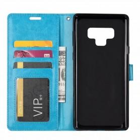 Mobil lommebok 3-kort Samsung Galaxy Note 9 - Blå