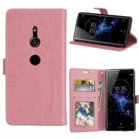 Mobil lommebok 3-kort Sony Xperia XZ2 - Lys rosa