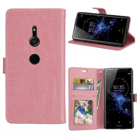 Mobilplånbok 3-kort Sony Xperia XZ2 - Ljusrosa