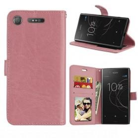 Mobil lommebok 3-kort Sony Xperia XZ1 - Lys rosa