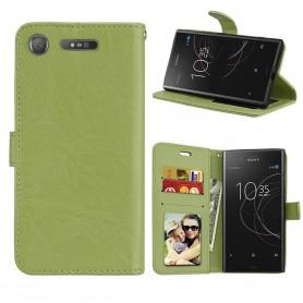 Mobilplånbok 3-kort Sony Xperia XZ1 - Grön