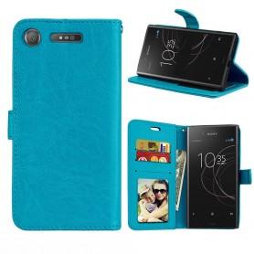 Mobil lommebok 3-kort Sony Xperia XZ1 - Blå