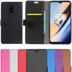 Mobilplånbok 2-kort OnePlus 6T mobilskal fodral skinn CaseOnline