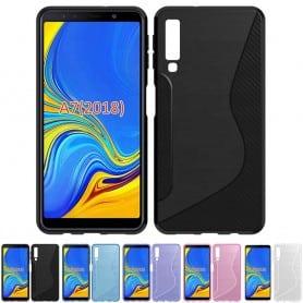 S Line silikon skal Samsung Galaxy A7 2018 mobilskal