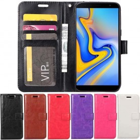 Mobilplånbok 3-kort Samsung Galaxy J6 Plus (SM-J610F)