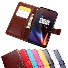 Mobilplånbok 3-kort OnePlus 6T fodral väska mobilskal caseonline