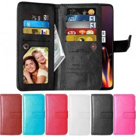 Mobilplånbok Dubbelflip Flexi 9-kort OnePlus 6T mobilskal caseonline