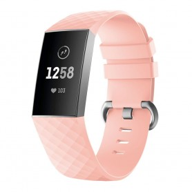 Sport Armband till Fitbit Charge 3 - Ljusrosa klockarmband caseonline