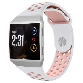 EBN Sport Armband Fitbit Ionic - vit/rosa