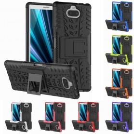 Slagbestandig skall med stativ Sony Xperia 10 (I4113) mobiltelefon deksel silikon deksel caseonline