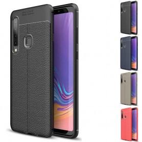 Läder mönstrat mobilskal TPU skal Samsung Galaxy A9 2018 (SM-A920F)