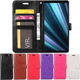 Kannettava lompakko 3 -kortti Sony Xperia 1 matkapuhelimen kotelo