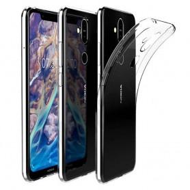 Silikonskal Gjennomsiktig Nokia 8.1 2018 (TA-1128) mobilskall