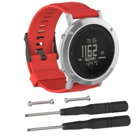 Sport Armband till Suunto Core Essential - Röd