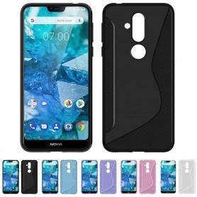 S Line silikonskall Nokia 8.1 2018 (TA-1128) mobiltelefon beskyttelsesetui caseonline