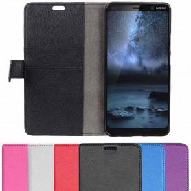 Mobil lommebok 2-kort Nokia 9 PureView (TA-1094) mobiltelefon beskyttelsesetui caseonline