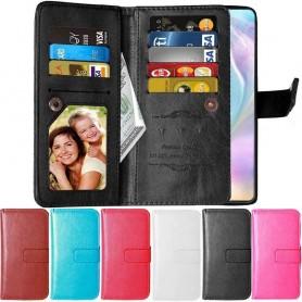 mobilplånbok Dubbelflip Flexi 9-kort Huawei P30 mobilskal skydd väska fodral caseonline