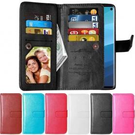 Dubbelflip Flexi 9-kort Samsung Galaxy S10 (SM-G970F) mobilplånbok skal väska fodral caseonline