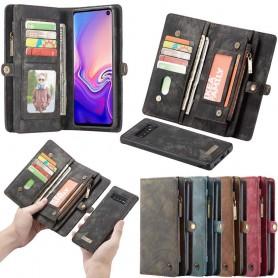 Multiplånbok 11 kort Samsung Galaxy S10 (SM-G973F) mobilskal caseme väska plånbok