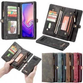 Multi Wallet 11-kort Samsung Galaxy S10 (SM-G973F) mobiltelefon veske caseme lommebok