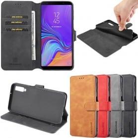 Mobilplånbok DG-Ming 3-kort Samsung Galaxy A7 2018 (SM-A750F) mobilskal väska fodral caseonline