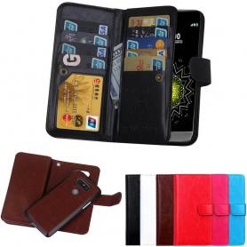 Kannettava lompakko Double flip Magnet 2i1 LG G5 9 -kortti matkapuhelimen kotelo