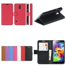 Samsung Galaxy S5 Mini -laukku lompakko 2-kortti