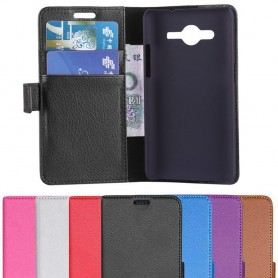 Samsung Galaxy Core 2 Mobil lommebok 2-kort mobildeksel