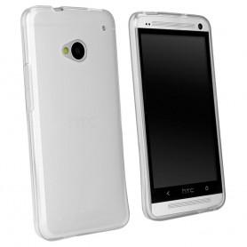 HTC One M7 silikon gjennomsiktig