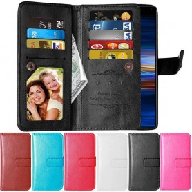 Dobbelt Flip Flexi 9-kort Sony Xperia 10 (I4113) Mobil lommebokveske Mobiltelefonetui Caseonline