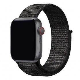Apple Watch 42mm Nylon Armband - Black Pink