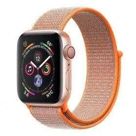 Apple Watch 4 (44mm) Nylon Armband kardborre - Spicy Orange