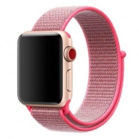 Apple Watch 38mm Nylon Armband Hot Pink