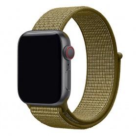 Apple Watch 38mm Nylon Armband Olive Flak