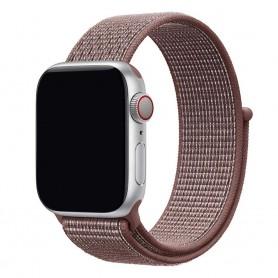 Apple Watch 38mm Nylon Armband - Smoke Mauve
