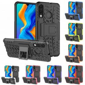 Slagbestandig skall med stativ Huawei P30 Lite (MAR-LX1) mobil deksel silikon deksel caseonline