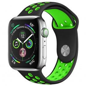 EBN Sport Armband Apple Watch 4 (40) - Svart/grön