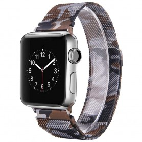 Apple Watch 4 (40) Armbånd Milanese Camo - Brun