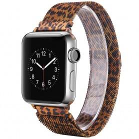 Apple Watch 4 (40) Armbånd Milanese - Leopard