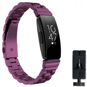 Armband rostfritt stål FITBIT Inspire / Inspire HR - Lila