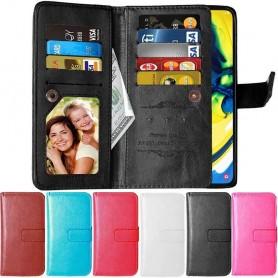 Mobilplånbok skal väska Dubbelflip Flexi 9-kort Samsung Galaxy A80 (SM-A805F)