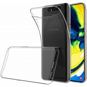 Silikon skal transparent Samsung Galaxy A80 (SM-A805F) mobilskal
