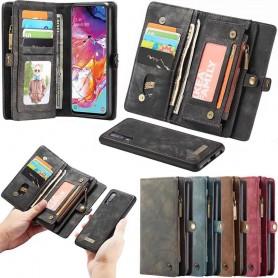 Multiplånbok CaseMe 11 kort Samsung Galaxy A70 (SM-A705F) mobilplånbok skal fodral väska