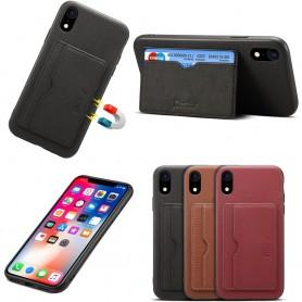 """Denior Läderskal med kortplatser Apple iPhone XR (6.1"""") mobilskal skinn"""