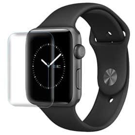 3D Curved Glas transparen skärmskydd Apple Watch 42mm displayskydd