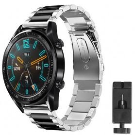 Armband rostfritt stål Huawei Watch GT2 - Silver/sv