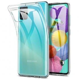 Silikonikotelo läpinäkyvä Samsung Galaxy A71 (SM-A705F)