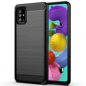 Harjattu silikonikotelo Samsung Galaxy A51: lle (SM-A515F)