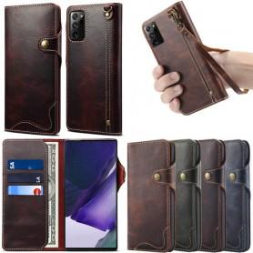 Mobilplånbok 3-kort äkta läder Samsung Galaxy Note 20